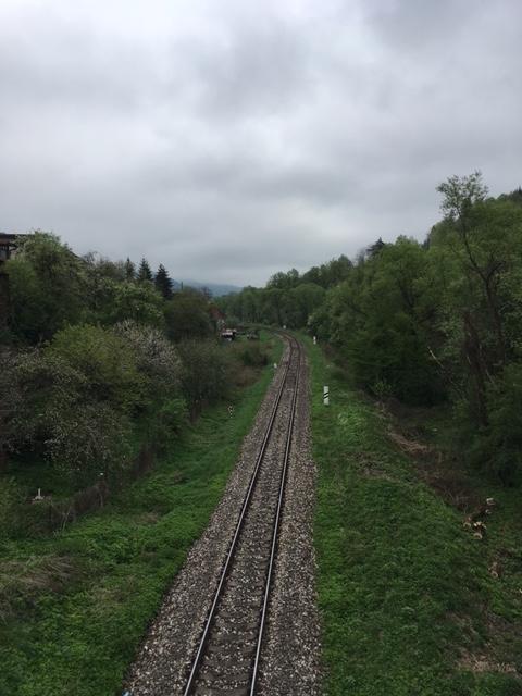 Cestovanie vo vlaku koľajnice