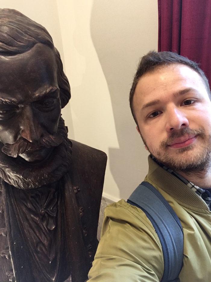 Návšteva Ľudovíta Štúra Jeho podobizeň - Selfie