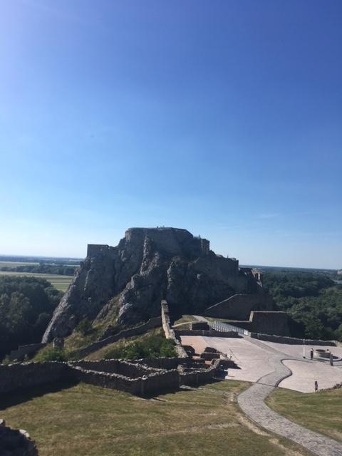 Výlet na hrad Devín - výhľad