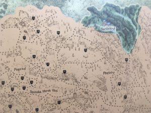 Cestovateľská stieracia mapa Slovenska