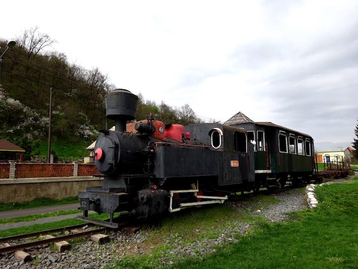 obec Vígľaš - parná lokomotíva